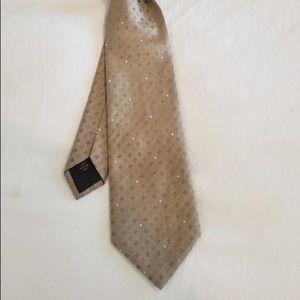 Gold Louis Vuitton Men's tie